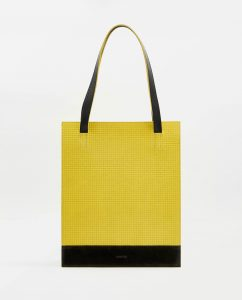 SOOFRE-Berlin-unique-Shopper-Bag-squared-yellow-black-FRONT