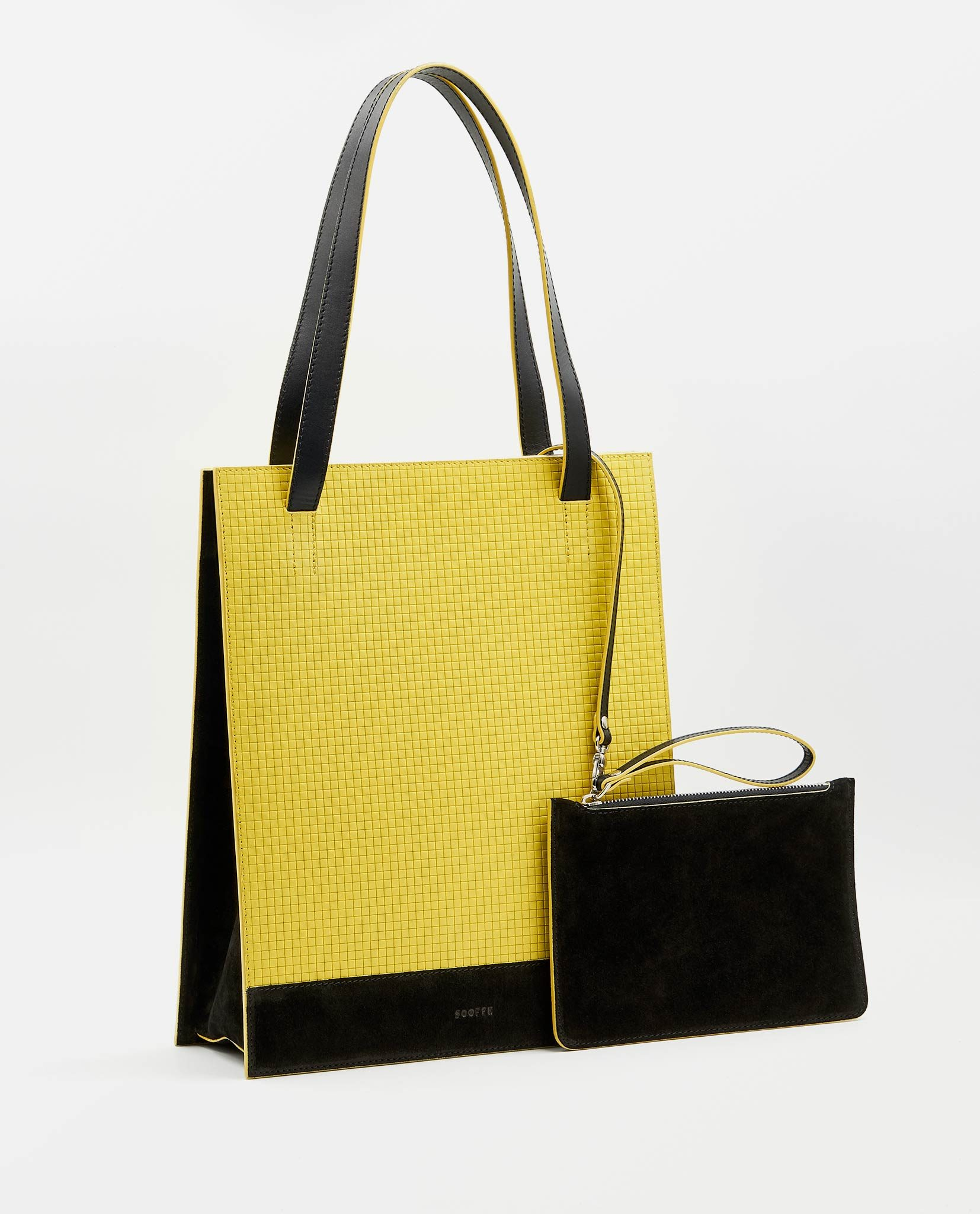 SOOFRE Berlin unique Shopper Bag squared yellow black