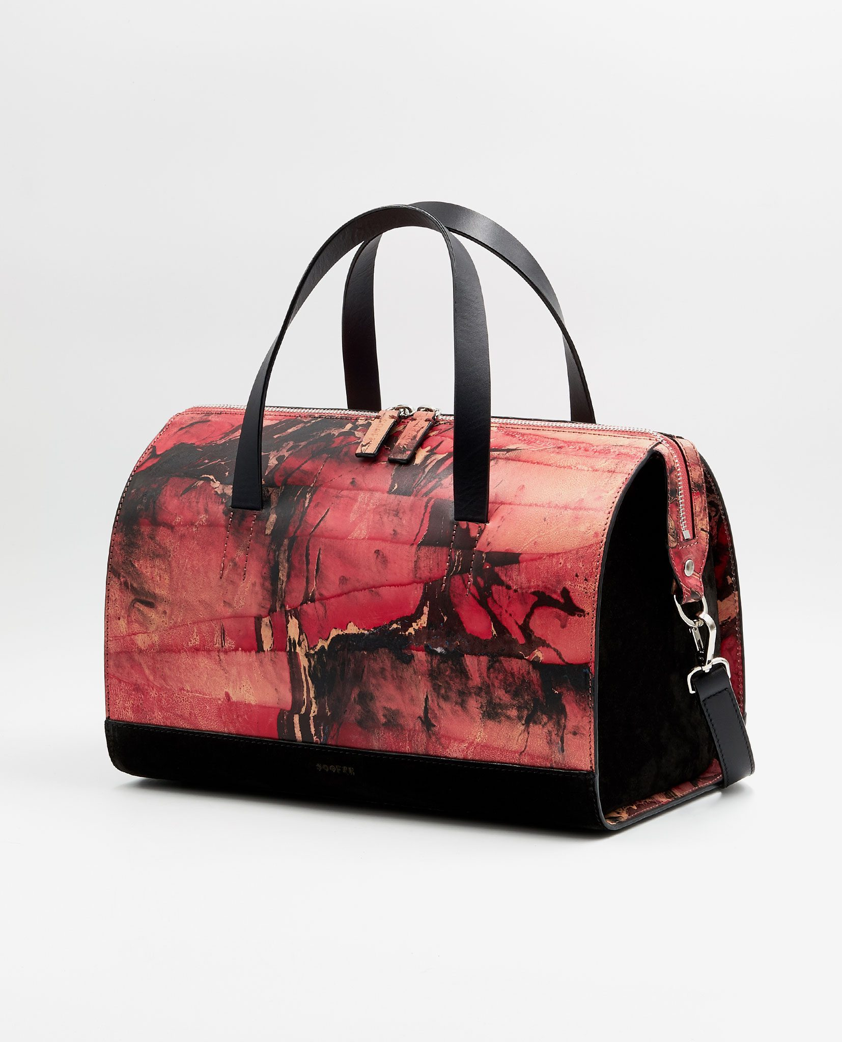 SOOFRE Berlin unique Bowler Bag marble red black