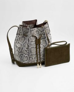 SOOFRE-Berlin-unique-Bucket-Bag-snake-brown-Khaki-SIDES