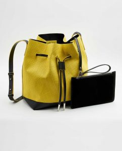 SOOFRE-Berlin-unique-Bucket-Bag-squared-yellow-black-SIDES